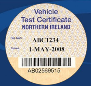 Vehicle test certificate northern ireland